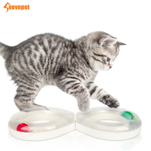Creative Cat Track Toys ball Disk Plastics Non-slip kitten Pet Funny turntable toy  Detachable Interactive Tunnel cat