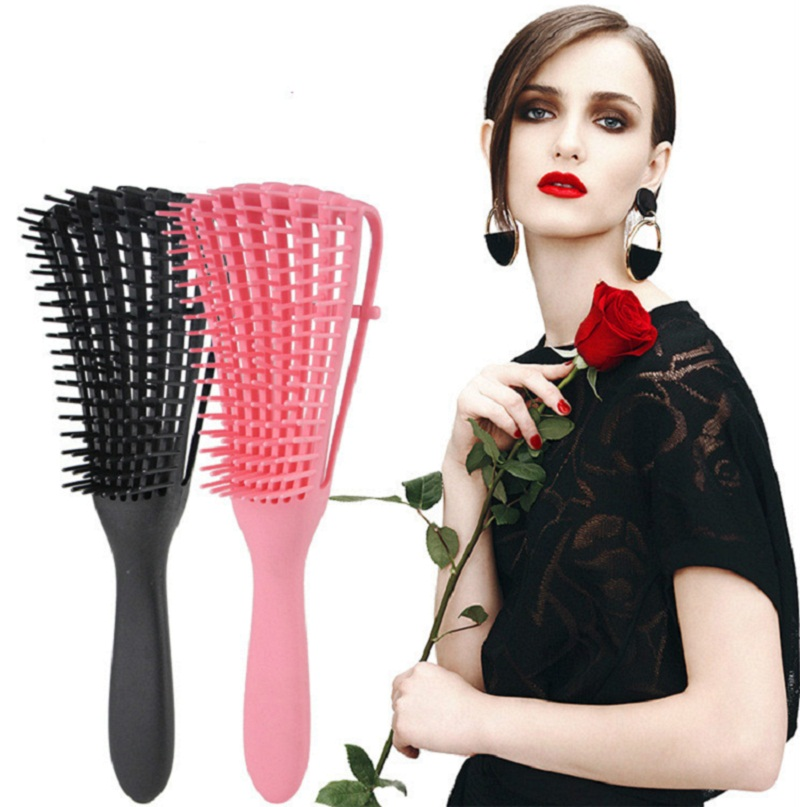 Shopify New Adjust Women Hair Scalp Massage Comb Hairbrush Wet Curly Detangle Women Hair Brush Salon Hairdressing Styling Tool
