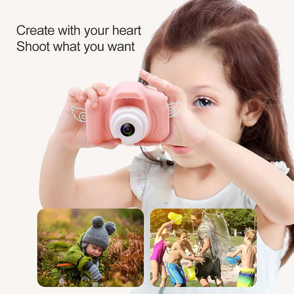 Children 2 Inch Hd Digital Camera Fun Cartoon Puzzle Can Take Pictures Simulation Small Slr Baby Toys