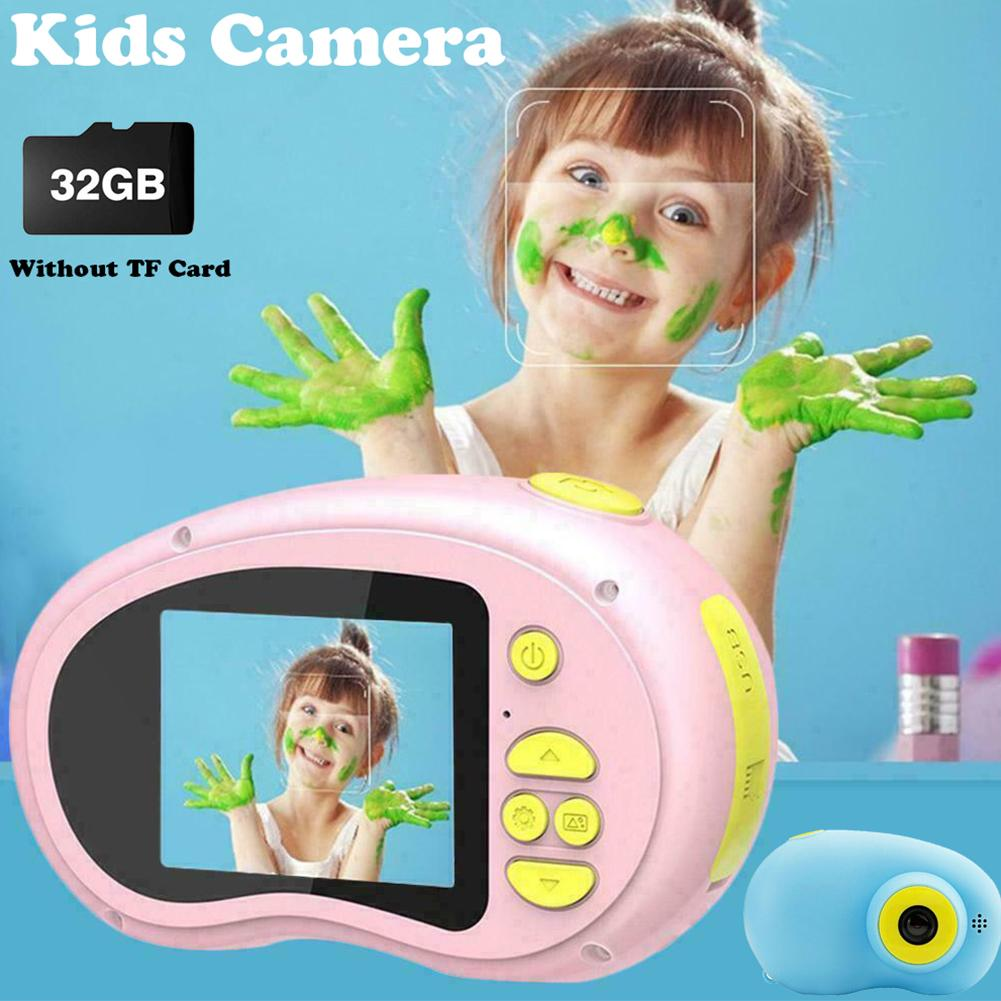 Rechargeable Kids Mini Digital Camera 2.0 Inch HD Screen 1080P Video Recorder Camcorder Language Switching Timed Shooting