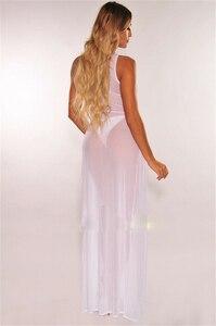 Женское пляжное платье без рукавов, длинное платье без рукавов с круглым вырезом, накидка-кафтан, праздничные платья без рукавов, эротические секс-платья, 2019