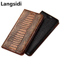 Ostrich claw genuine leather flip phone cover for Xiaomi Mi9T phone bag for Xiaomi Redmi K20 Pro holster cover kickstand case