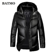 BATMO 80% white duck down hooded jackets men,men's winter