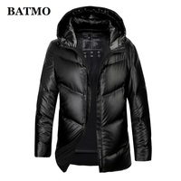 BATMO 80% white duck down hooded jackets men,men's winter down jackets ,parkas men,plus size M 4XL