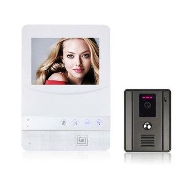 4.3 inch Video Door Screen Monitor Viewer Door Bell Video Intercom Monitor Kit waterproof Camera Door Bell