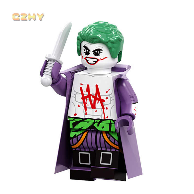 DC Joker Zombie Robin Harley Quinn LegOINGlys MiNiFIGured Riddler Super Heroes Building Blocks ของขวัญของเล่นสำหรับเด็ก