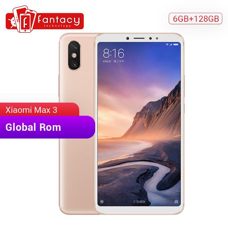 ROM Global Xiao mi mi Max 3 6GB 128GB 6.9 plein écran Snapdragon 636 Octa Core 5500mAh QC 3.0 12MP + 5MP double caméra Smartphone