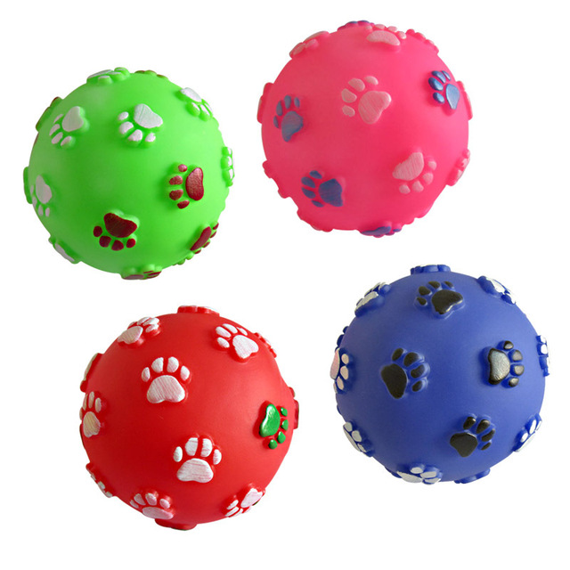 1pcs Diameter 6cm Squeaky Pet Dog Ball Toys, Rubber Chew Puppy Toy Dog  4