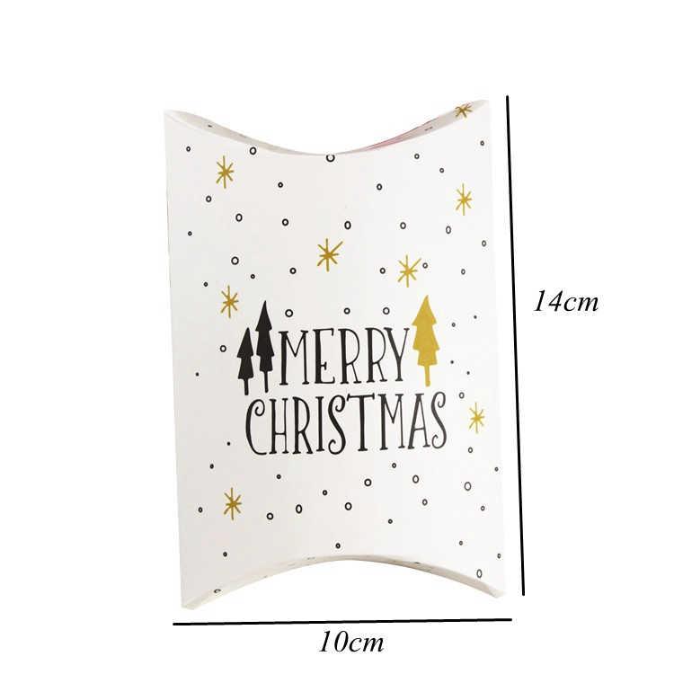 1Set Frohe Weihnachten Süßigkeiten Geschenk Boxen Hirsch & Santa Claus Gäste Verpackung Boxen Geschenk Tasche Weihnachten Party Favors Kinder geschenk Decor