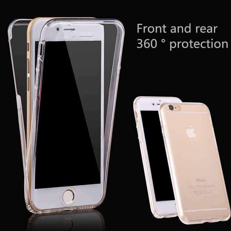 360 Degree Full Cover Clear Phone Case For iPhone 11 Pro XR Xs Max Soft Silicone Tpu Cases For iPhone 7 6 6s 8 Plus X 5 5S SE 4s