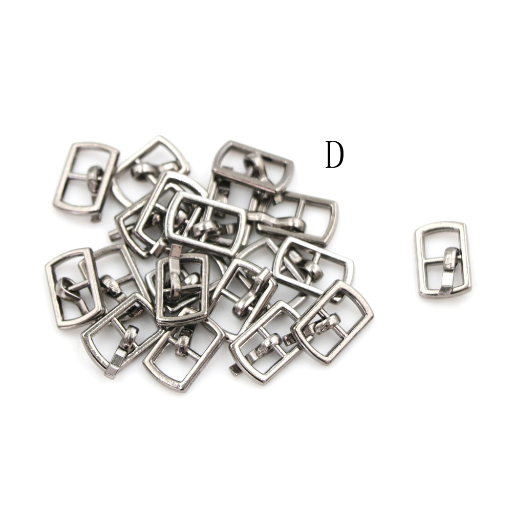 3/10PCS 4.5mm Mini Buckle DIY Patchwork Buckle For Dolls Clothing Adjustable Accessories Handmade Sewing 9