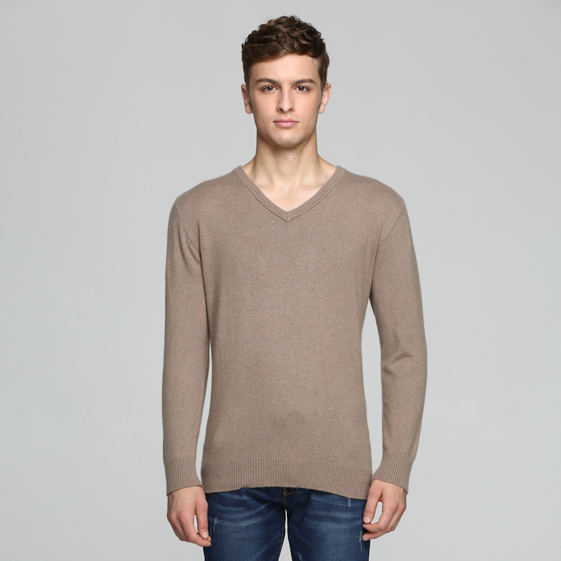 Autumn And Winter New High-end Men's Sweater Cashmere Sweater V-neck Business Sweater Sweater Short Short Size Sweater
