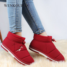 Winter Snow Boots Women Waterproof Ankle Boots Plush Indoor Shoes Warm Ladies Platform Boots Fur Slip On Botas Mujer Plus Size(China)