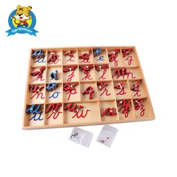 Montessori petit jouet Alphabet mobile cursif