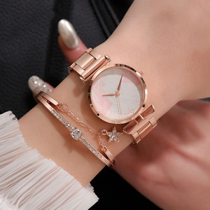 Women's Stainless Steel Belt Fashion Diamond Inlaid Alloy Leisure Ladies Watches for Women Fashion Alloy Clock Quartz Watch