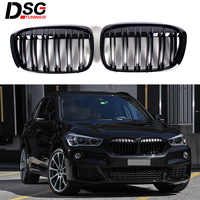 Front Kidney Grills Grille Grid for BMW F48 X1 Series 5-door SUV 2016 +