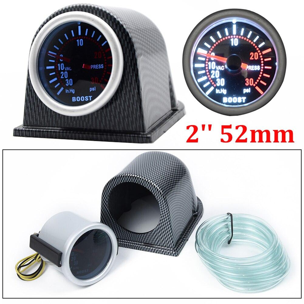 "2/"" 52mm Car Motor Universal Black Face LED 0-30 Vacuum Gauge Meter"