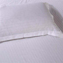 Five-Star Hotel Cotton Satin Stripe Pillow Case White Envelope Single Double Solid Color Pillow Case Pure Cotton(China)