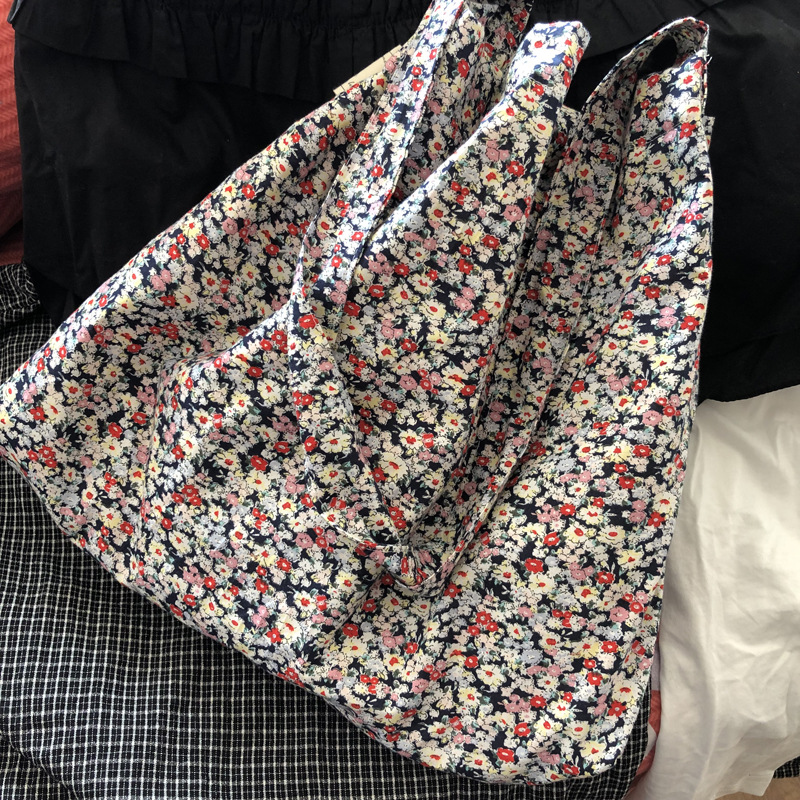 Flor de Algodão Bolsala de Compras Mini Menina Ombro Corpo Cruz Única Alça Bh032 Eco