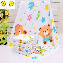 60*120 newborn muslin 100% cotton soft baby blanket swaddling baby blankets bedding blankets swaddle wrap bath towel(China)