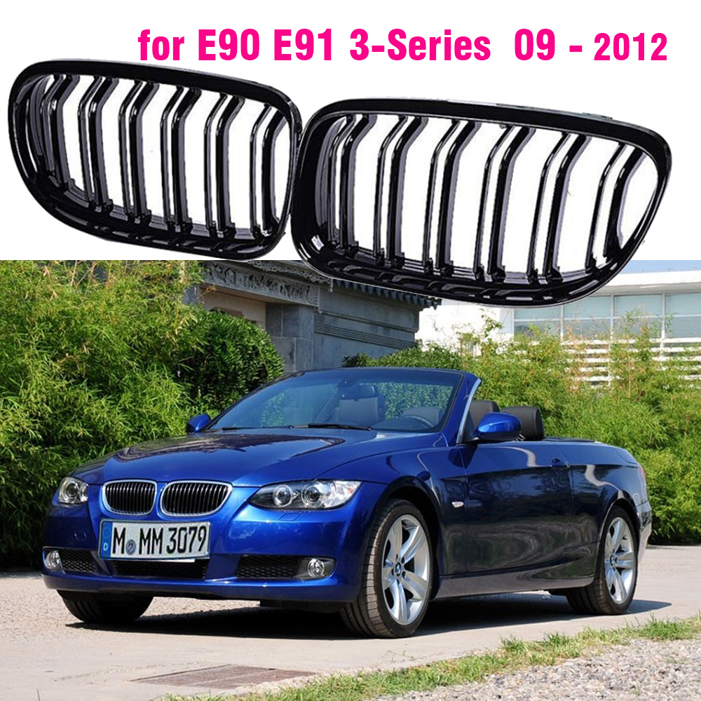 Car Front Grille Gloss Black Inlet Grille for BMW E90 E91 LCI 3-Series Sedan Wagon 2009 2010 2011 2012 image