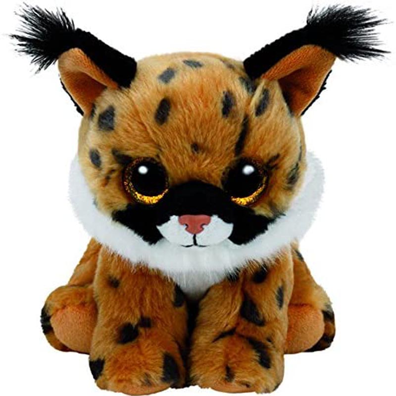 Ty Beanie Babies Larry The Lynx Wild Cat Plush Animal Toys Stuffed Doll Gift 15cm