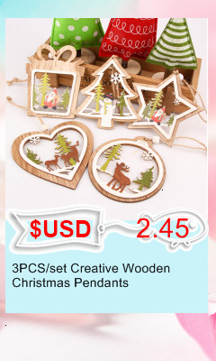 3PCS/lot Creative White Deer/Snowflake Wooden Pendants Christmas Tree Ornaments Decorations Xmas Wood Crafts Home Party Supplies 19