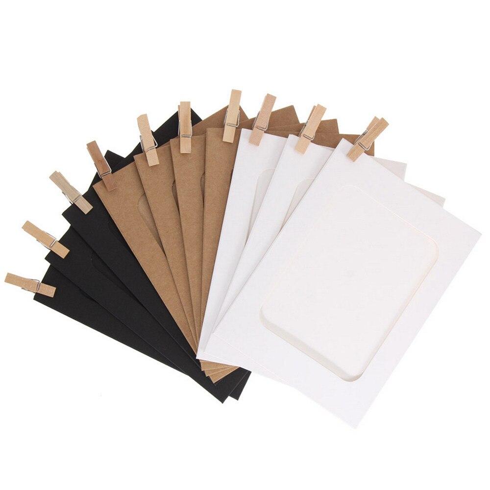 10Pcs 3Inch Paper Photo Flim DIY Wall Picture Hanging Frame Album + Rope + Clips Set articoli pratici per la tua moda quotidiana