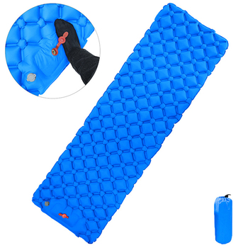 New Arrive Inflatable Sleeping Pad With Air Bag Mattress Outdoor Camping Mat Ultralight Tent Camp Moisture-proof Pad