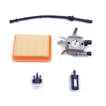 Carburetor Kit for Stihl FS400 FS450 FS480 String Trimmer Brush Cutter with Fuel Line Filter Primer Bulb 5pcs petrol snap in primer bulb fuel for chainsaws blowers trimmer carburetor