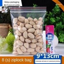Ziplock Bag Small Transparent Plastic Bag Plastic Packaging Bag 9X13cm Thick 0.08mm Plastic Food Bags Plastic Sealed Bag100pcs