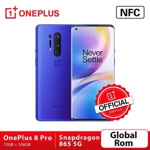 Глобальная прошивка Oneplus 8 Pro 5G Смартфон Snapdragon 865 12 Гб 256 6,87 ''120 Гц жидкости Экран 48MP Quad камеры 30 Вт Беспроводной зарядки