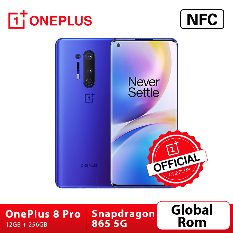 Küresel Rom Oneplus 8 Pro OnePlus resmi mağaza 5G Smartphone Snapdragon 865 12GB 256GB 120Hz sıvı ekran 48MP dört kamera 30W