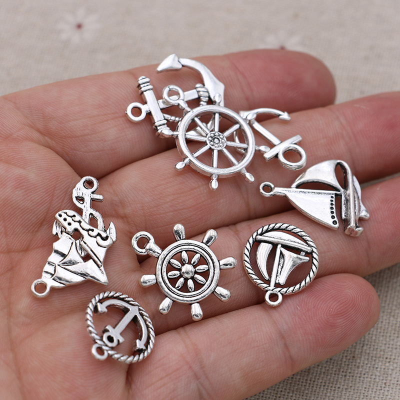 20pcs Red Anchor Enamel Charms Pendants DIY Jewelry Making Necklace Keychain Zipper Pull Craft Decorating Gifts for Anchor LoversSailors