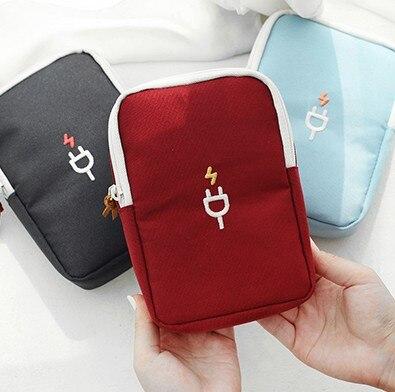 Waterproof Organizer USB Data Cable Earphone Wire Handle Power Bank Travel Bag Storage Kit Case Digital