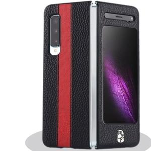 Image 5 - Luksusowy skórzany futerał na telefon odporny na wstrząsy ochronna tylna pokrywa Shell dla Samsung W20/Fold/F9000 akcesoria do telefonów komórkowych