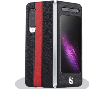 Luxury Leather Phone Case Shockproof Protective Back Cover Shell for Samsung W20 Fold F9000 Mobile Phone