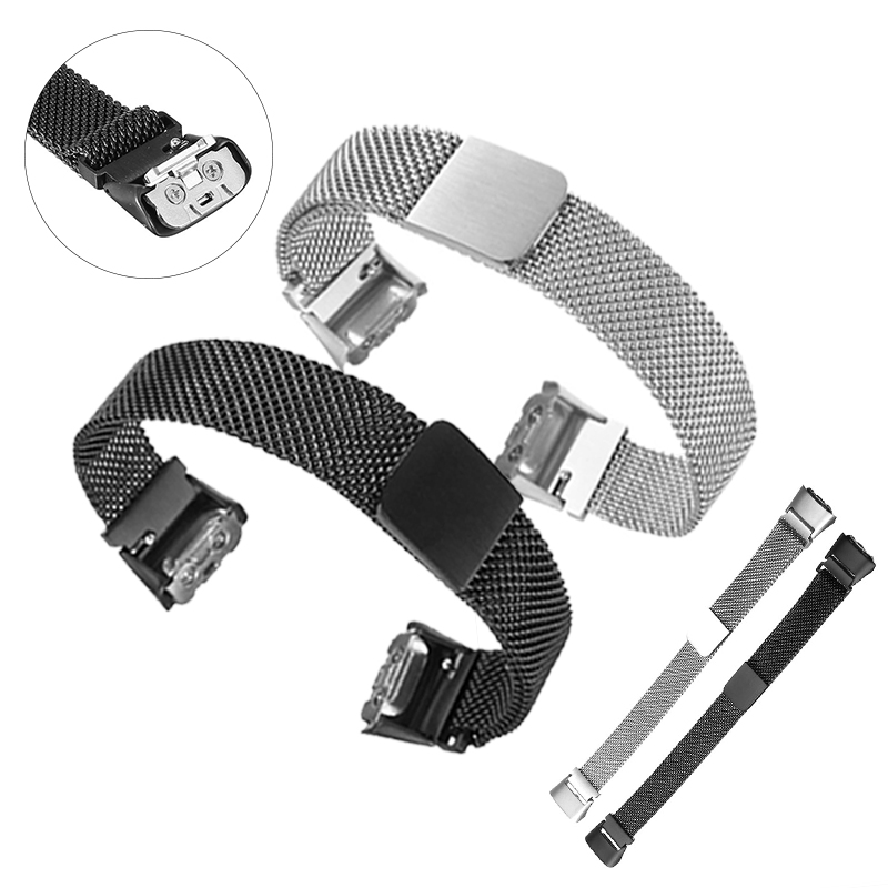 For Samsung Galaxy Fit SM R370 Milanese Stainless Steel Strap Watch Band Milanese Loop band for Fit SM R370 Watch Accessories|Smart Accessories| |  - title=