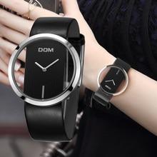 DOM מותג יוקרה נשים שעונים אופנה מקרית קוורץ ייחודי אופנתי חלול שלד שעון עור ספורט ליידי שעוני יד LP 205
