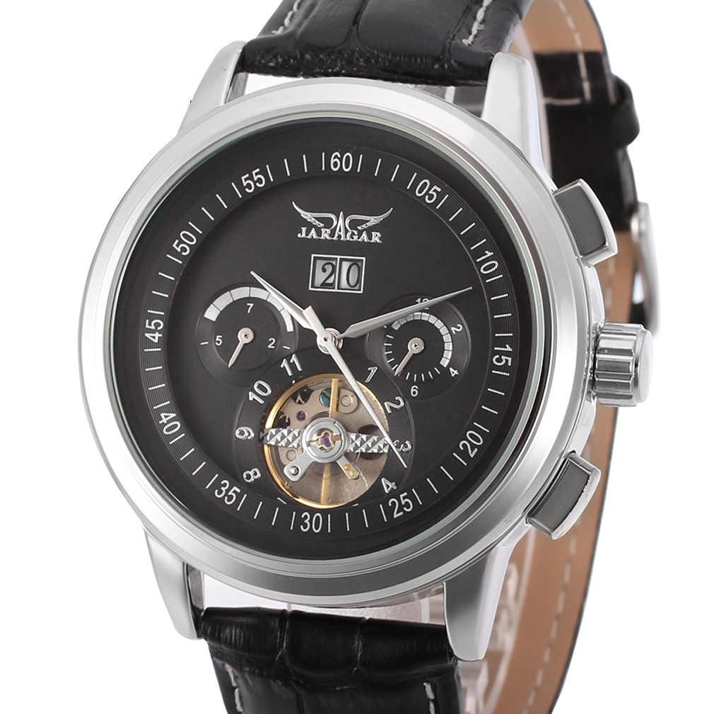 JARAGAR メンズ腕時計機械式自動腕時計ビジネス因果男の腕時計ファッション男性時計レロジオ masculino relogios