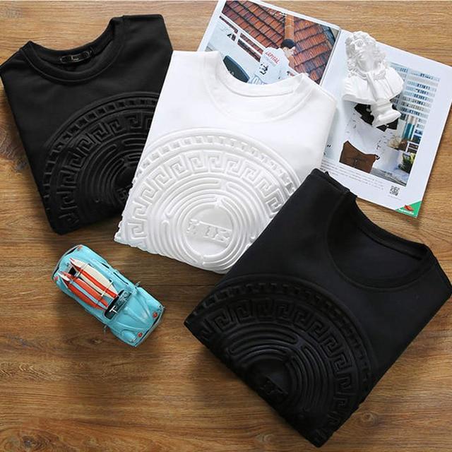 Camiseta de manga larga para hombre, camisa de tendencia de manga larga, jersey de talla grande, estilo coreano guapo, T19, primavera y otoño, 2021 3