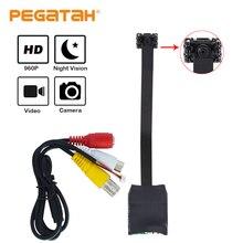 1.3mp mini câmera ahd micro câmera de áudio ahd/tvi/cvi/cvbs 4 em 1 utc para ahd dvr kits micro cctv câmera sistema de segurança dc 12 v
