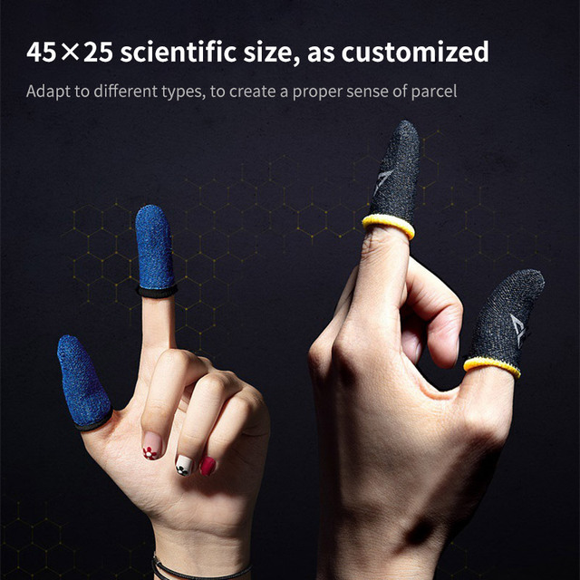 Guantes profesionales para jugar a PUBG con el teléfono, a prueba de sudor, mangas para dedos, pantalla táctil, mangas para dedos