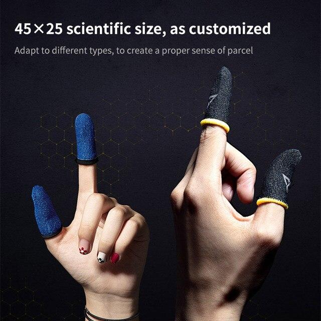 ProfessionalสำหรับPUBGเกมโทรศัพท์โทรศัพท์เกมสเตอริโอแขนถุงมือThumbsฝาครอบTouchscreenแขน