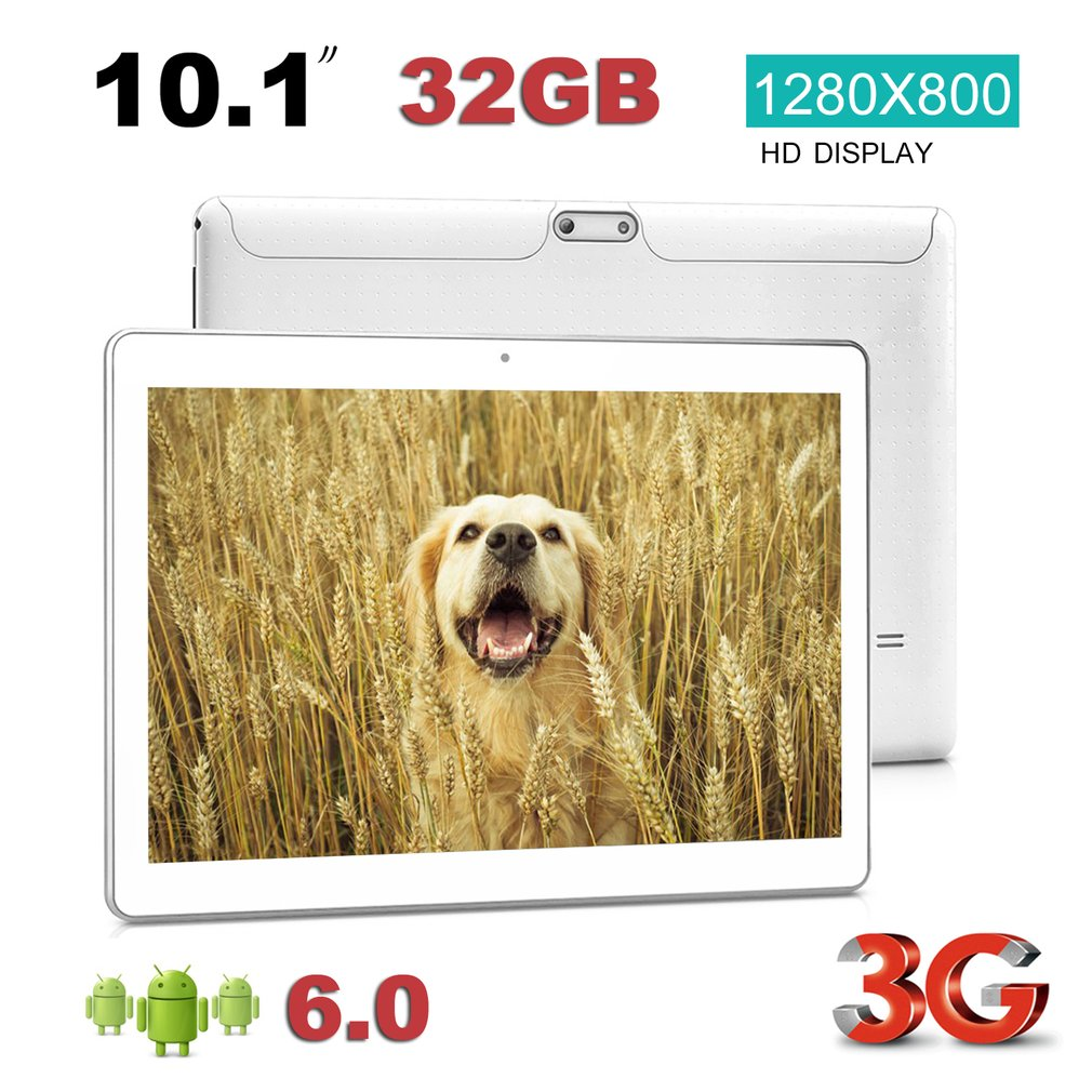 10.1 Inch Quad Core 3G HD Phone Call Dual SIM Cards RAM 2G + ROM 32G Wi-Fi Tablet PC For Android 6.0 Operation System