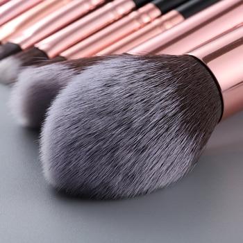 FLD 5pcs Kabuki Makeup Brushes Set Foundation Powder Small Eye Shadow Eyebrow Blending Concealer Cosmetic Brush Kit Professional 6