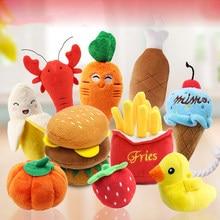 Plush dog sound toy fruit cartoon animal Squeak Toys puppy toys dog plush toys for small dogs