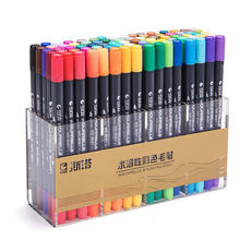 12/24/36/48 Colors Lettering Markers Dual Tip Brush Pen Sketching Markers for Drawing Art Supplies
