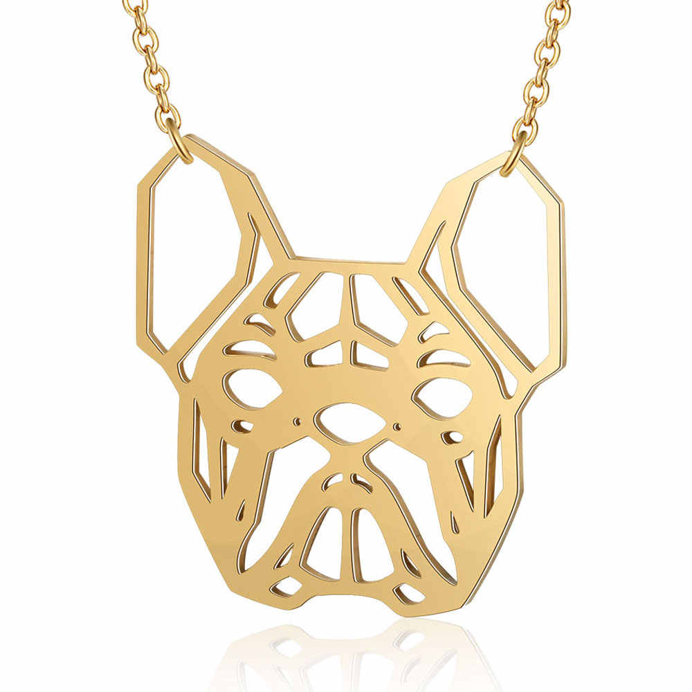 100% Real Stainless Steel Bulldog Necklace Special Gift Fashion Animal Pendant Necklaces Trend Jewelry Necklaces Super Quality