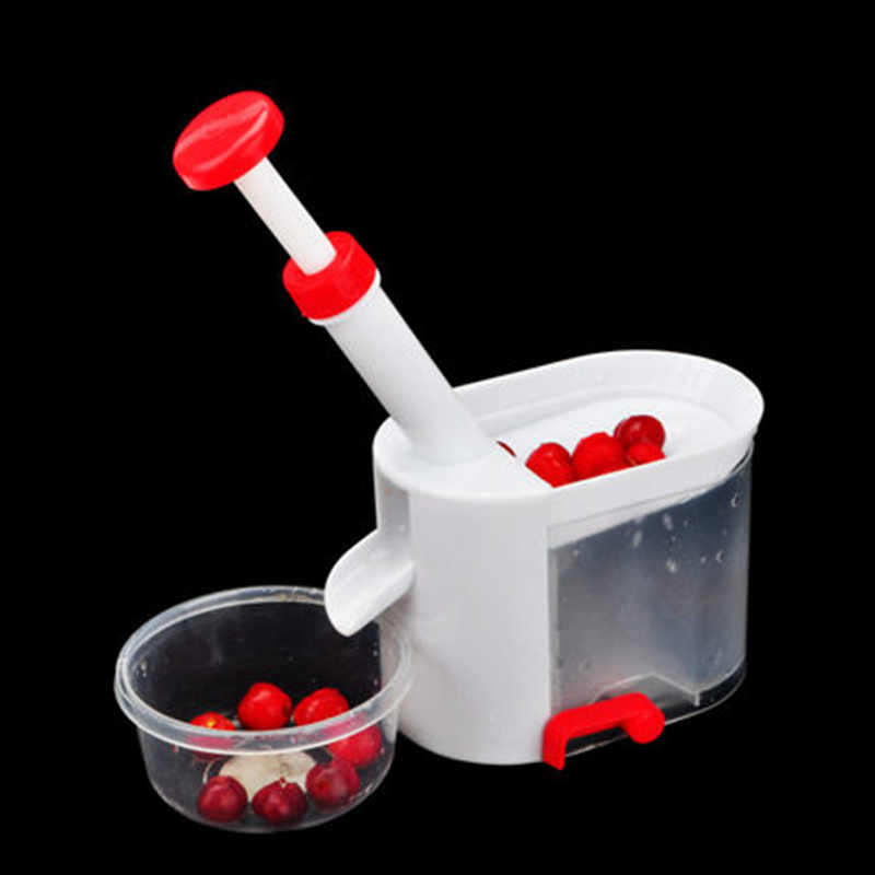Nouvelle mise à niveau cerise Pitter Machine à enlever la pierre cerise Corer avec conteneur accessoires de cuisine fruits légumes outils